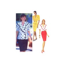 1990s Misses Top and Skirt Butterick 5359 Vintage Sewing Pattern Size 12 - 14 - 16 Bust 34 - 36 - 38