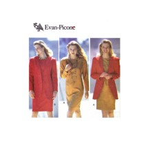 Evan-Picone Below Hip Jacket and Dress Butterick 5696 Vintage Sewing Pattern Size 12 - 14 - 16