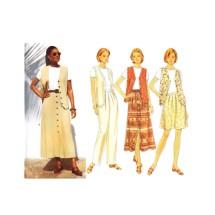 Misses Vest Top Skirt Shorts Pants Butterick 4505 Sewing Pattern Size 12 - 14 - 16