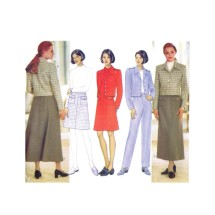 Misses Jacket Skirt Pants Butterick 4742 Vintage Sewing Pattern Size 14 - 16 - 18