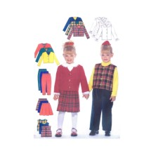 Girls Jacket Vest Blouse Skirt Pants Butterick 5777 Sewing Pattern Size 6 - 7 - 8
