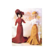 Delineator Girls Circa 1900 Jacket Skirt Hat Dress Overblouse Doll Clothes Butterick 6374 Sewing Pattern