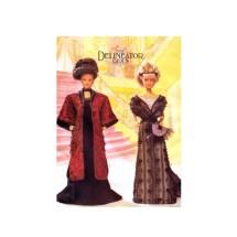 Delineator Girls Circa 1908 Dress Kimono Headband Fan Doll Clothes Butterick 6618 Sewing Pattern