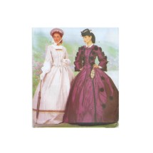 Southern Belle Civil War Era Gown Top Skirt Butterick 6694 Sewing Pattern Size 18 - 20 - 22
