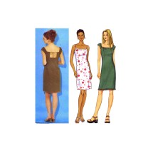 Misses Close Fitting Straight Dress Butterick 3112 Sewing Pattern Size 6 - 8 - 10