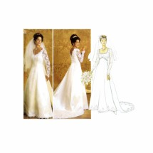 Wedding Gown Brides Dress Detachable Train Butterick 4289 Sewing Pattern Size 6 - 8 - 10 - 12