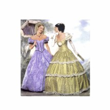 Southern Belle Ball Gown Civil War Costume Butterick 6195 Sewing Pattern Size 12 - 14 - 16