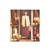 Misses Jacket Top Dress Shorts Pants Lifestyle Wardrobe Butterick 3834 Sewing Pattern Size 8 - 10 - 12