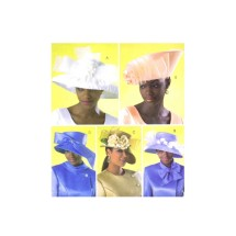 Misses Kentucky Derby Church Wedding Hats Butterick 4146 Sewing Pattern Size S - M - L