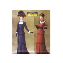 Misses Victorian Jacket and Dress Titanic Costume Butterick 4212 Sewing Pattern Size 18 - 20 - 22