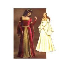 Renaissance Fair Maiden Dress Historical Costume Butterick 4571 Sewing Pattern Size 14 - 16 - 18 - 20