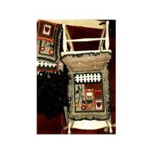 Garden Sampler Seat Cushion Set Calico Mountain Vintage Sewing Pattern