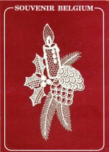 Candle Holly Berries Lace Applique