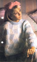 Checked Sweater Knitting Pattern