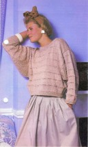 Cotton Sweater with Gussets Knitting Pattern