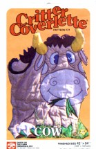 Cow Critter Coverlette Down on the Farm Originals Vintage Pattern
