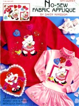 Daisy Kingdom Kitty Valentine No-Sew Fabric Applique