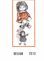 "Mail Order Design 7313 Doll Clothes and 20"" Doll Vintage Sewing Pattern"