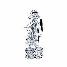 Girls Crocheted Vest and Skirt Design 7387 Crochet Pattern