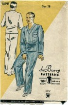 du Barry 1091B Mens Pajamas Size 38