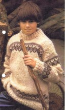 Family Fair-Isle Sweaters Knitting Pattern