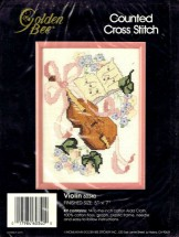Golden Bee Counted Cross Stitch Kit Violin