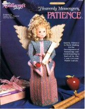 Heavenly Messengers Patience Angel Plastic Canvas Book