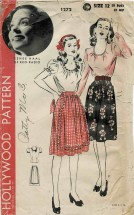 1940s Misses Blouse and Skirt Renee Haal Hollywood 1272 Vintage Sewing Pattern Size 12 Bust 30