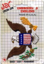 Joy Iron-On Embroidered Bald Eagle Emblem