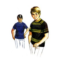 Boys T-Shirt Kwik Sew 346 Vintage Sewing Pattern Size 8 - 10 - 12