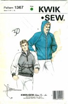 Kwik Sew 1367 Mens Jacket Chest 34 - 40