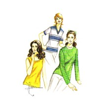 Ladies Knit Top Kwik Sew 303 Vintage Sewing Pattern Size 8 - 10 - 12