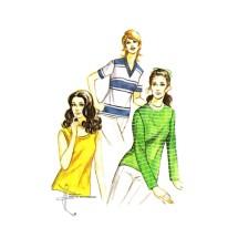 Ladies Knit Top Kwik Sew 303 Vintage Sewing Pattern Size 8 - 10 - 12