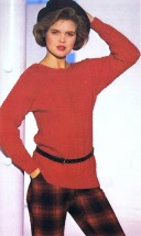 Lady's Cable Stitch Pullover Sweater Knitting Pattern