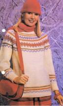 Lady's Fair Isle Sweater Knitting Pattern