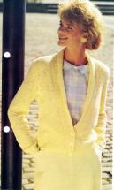 Lady's Shawl Collar Cardigan Knitting Pattern
