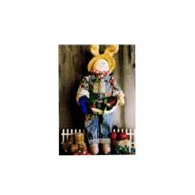 Freddies First Prize Rabbit Doll Lettuce Carrot Corn Little Folk Designs 105-G Primitive Vintage Sewing Pattern