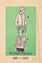 Mail Order 4987 Vintage Sewing Pattern Womens Jacket & Blouse Size 11 Bust 33 1/2