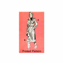 1970s Misses Coat Jacket Skirt Mail Order 4967 Vintage Sewing Pattern Size 12 Bust 34