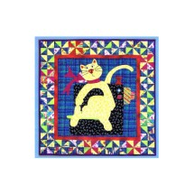 1990s Sew Spoiled Cat Quilt Wallhanging Mary Lou & Company 227 Sewing Pattern