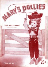 Mary's Dollies Doll The Westerner Doll Clothes Crochet Pattern Book Volume No. 12