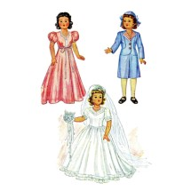 1940s Little Lady Dolls Bridal Outfit McCall 1089 Vintage Sewing Pattern Fits 15 inch Dolls