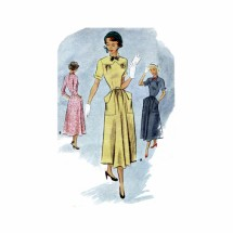 1940s Junior Flared Dress McCall 7730 Sewing Pattern Size 11 Bust 29