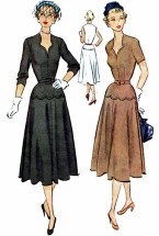 McCall 8318 Womens Dress Vintage Sewing Pattern Size 14 Bust 32