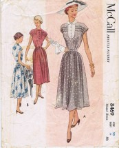 McCall 8469 Vintage Sewing Pattern Misses Dress Size 20 Bust 38
