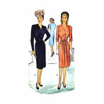 1940s Misses Dress McCall 6270 Vintage Sewing Pattern Size 14 Bust 32