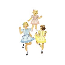 1940s Little Girls Tucked Dress McCall 1383 Vintage Sewing Pattern Size 2