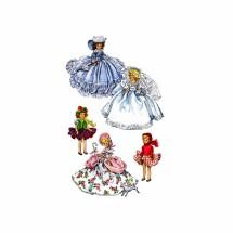1950s Doll Costumes Floradora Bride Little Bo-Peep Roller Skater Ice Skater McCalls 1653 Vintage Sewing Pattern Fits 7 1/2 inch Dolls