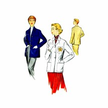 1950s Womens Sports Jacket McCalls 9718 Vintage Sewing Pattern Size 18 Bust 36