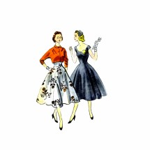 1950s Junior Dress and Jacket McCalls 9802 Vintage Sewing Pattern Size 11 Bust 29